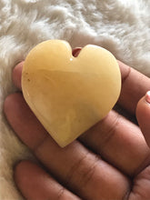 Yellow aventurine  Heart