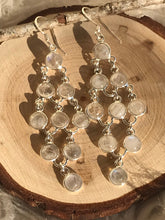 Royal Rainbow moonstone silver Earrings -5
