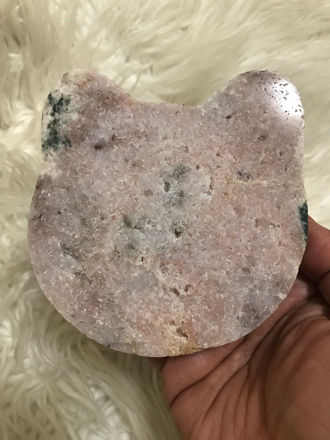 Gorgeous large Pink Amethyst Cathead 5