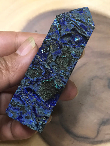 Unique Raw Azurite Malachite Point 4