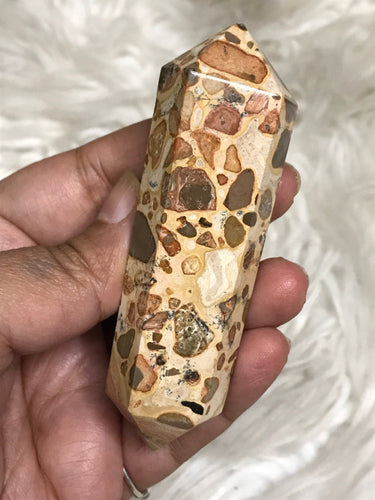 One Medium Leopardite Jasper DT