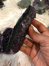 Large Dark Amethyst druzy Coffin 18 Halloween shapes