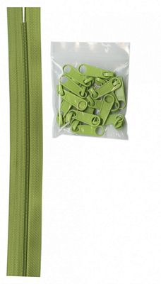 Zipper Tape by the Yard with 10 zipper pulls