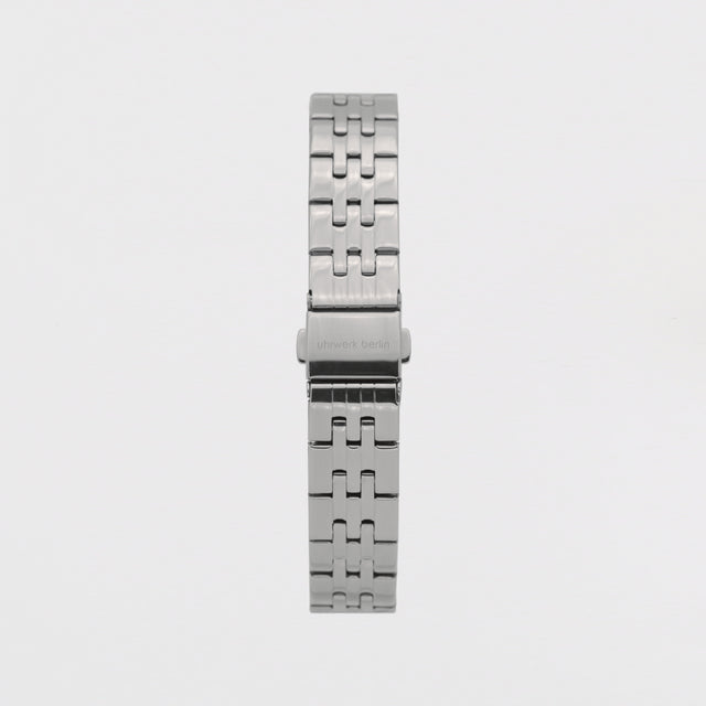 16mm Strap - Silver Linked