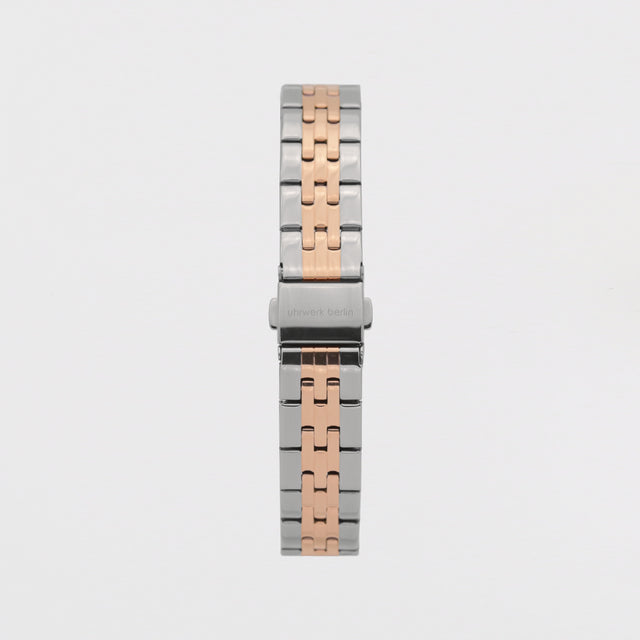 16mm Strap - Silver Rose Gold Linked