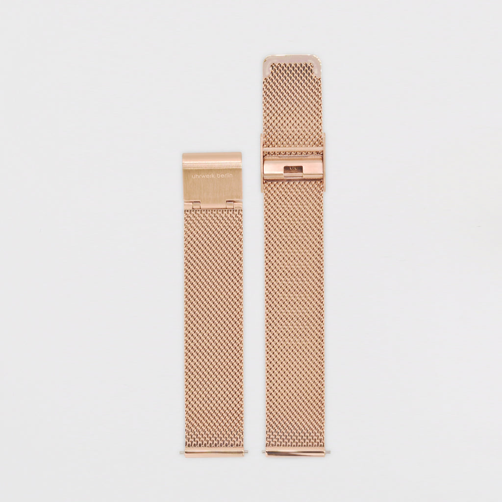16mm Strap - Rose Gold Mesh