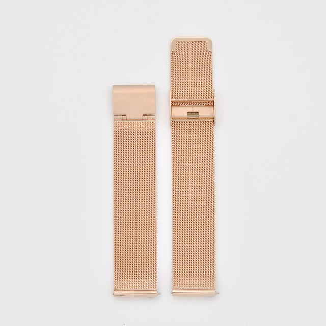 18mm Strap - Rose Gold Mesh