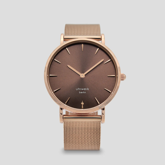 Luna Rose Gold Chocolate - Rose Gold Mesh