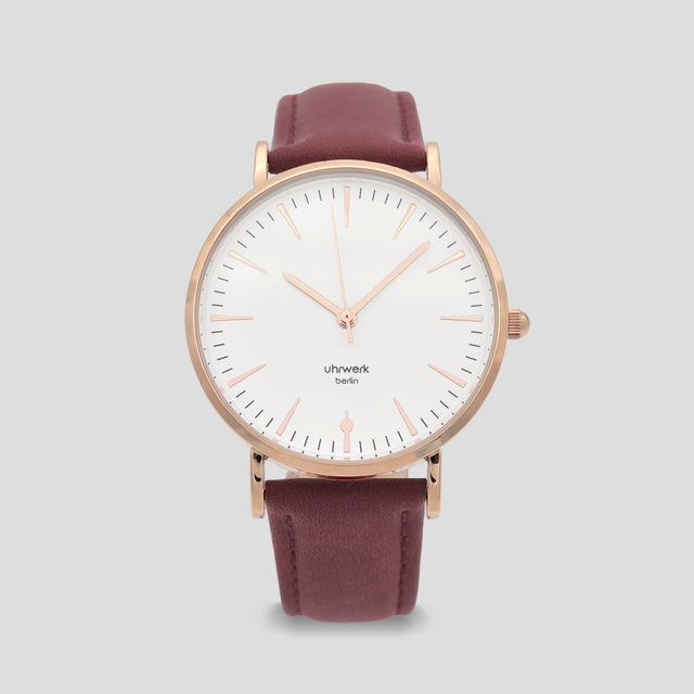 Paula Rose Gold - Berry Leather