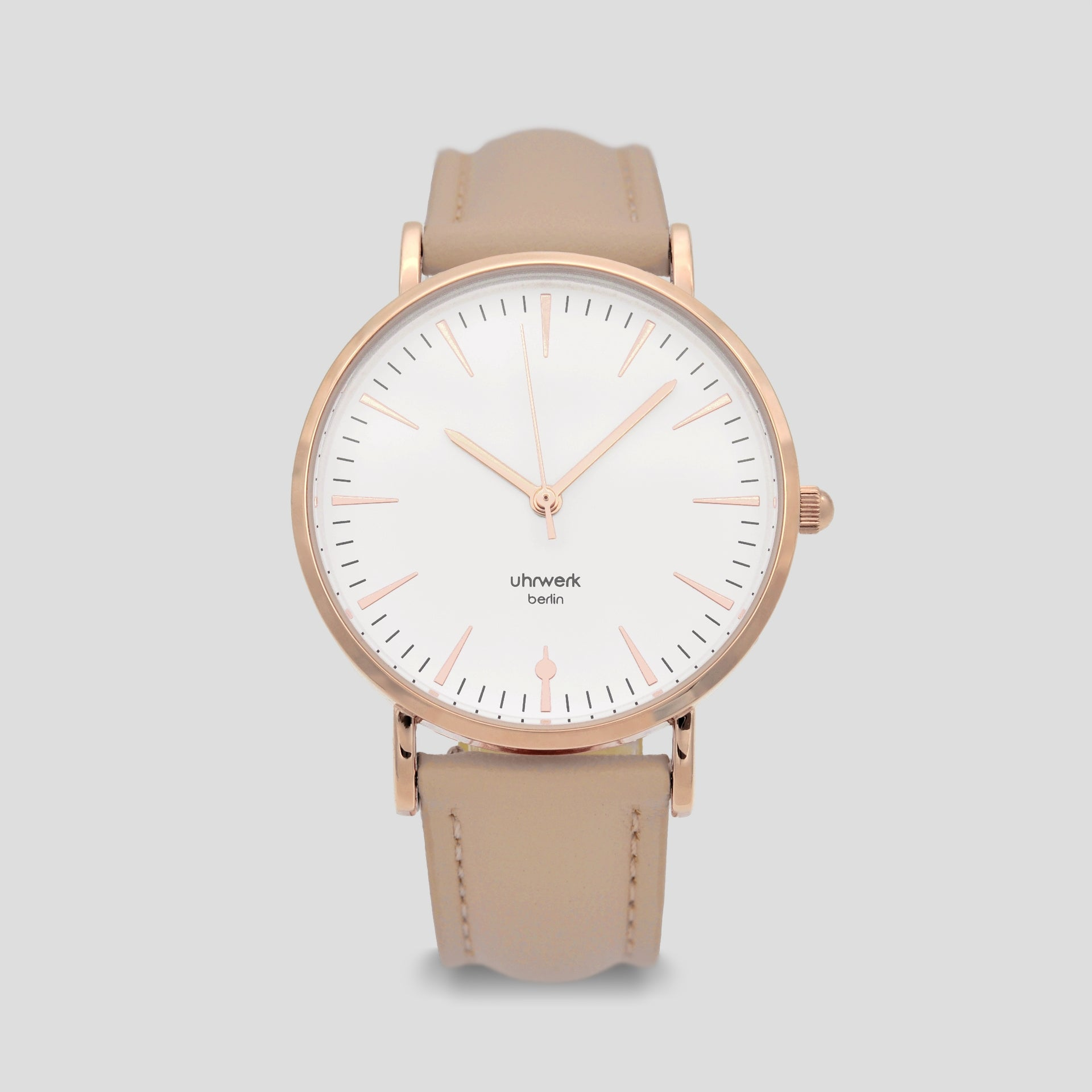 Paula Rose Gold - Taupe Leather