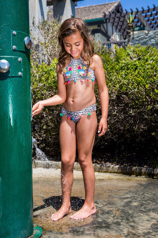 Safari Tassel High Neck Bikini from PilyQ 2017 Kids