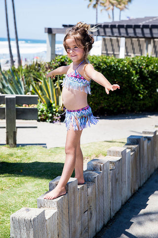 Belize Fringe Skirt Bikini from 2017 PilyQ Kids