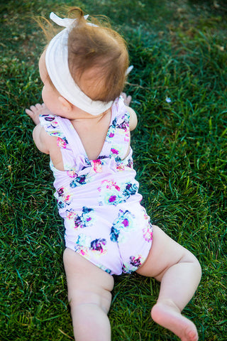 Rose Fleur baby bow one piece PilyQ swimsuit