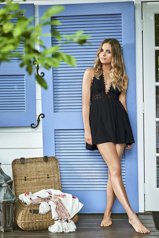 Little black Celeste dress for the beach from PilyQ