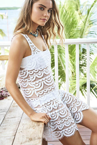 Water Lily White Island Lace Dress from PilyQ 2017 Summer Collection