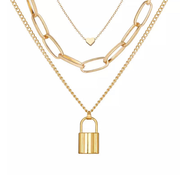 Love Lockdown Stacked Necklace