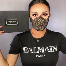 Load image into Gallery viewer, Lace Face Mask - Black