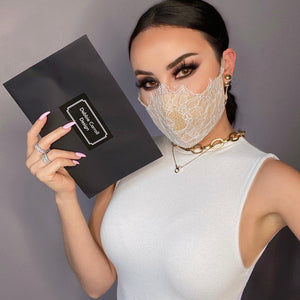 Lace Face Mask - White