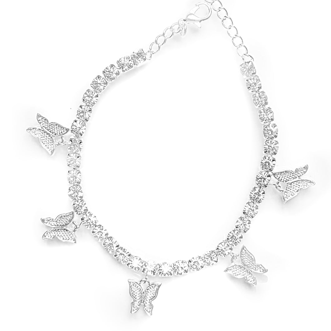 Bling Boss Butterfly Anklet