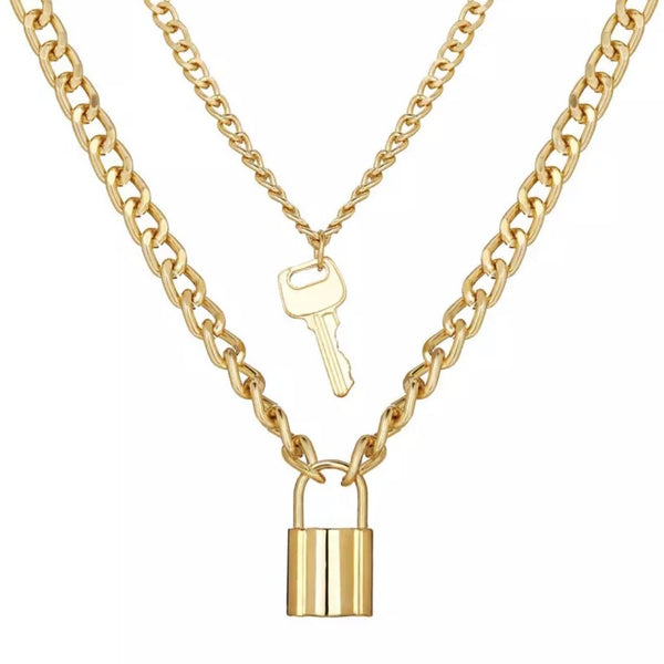 Key To My Heart Stacked Necklace
