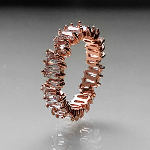Shatterproof Bling Ring - Rose Gold