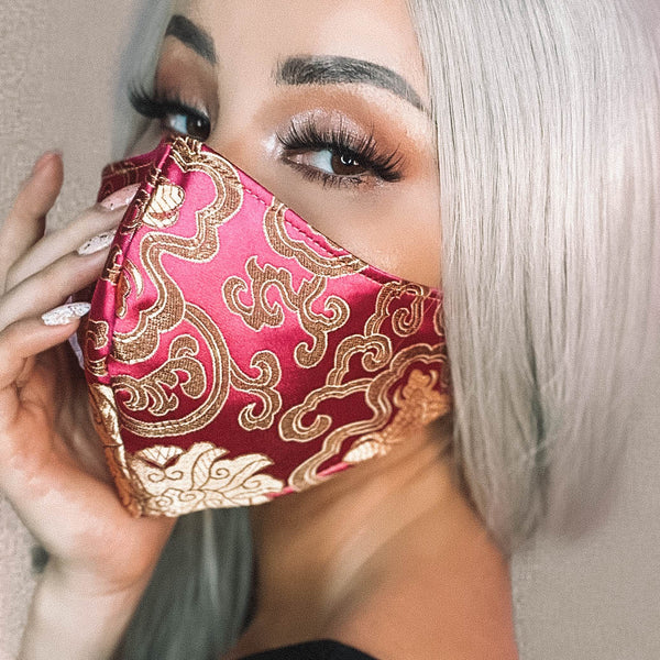 Marrero Collection: Baroque Barbie Designer Face Mask