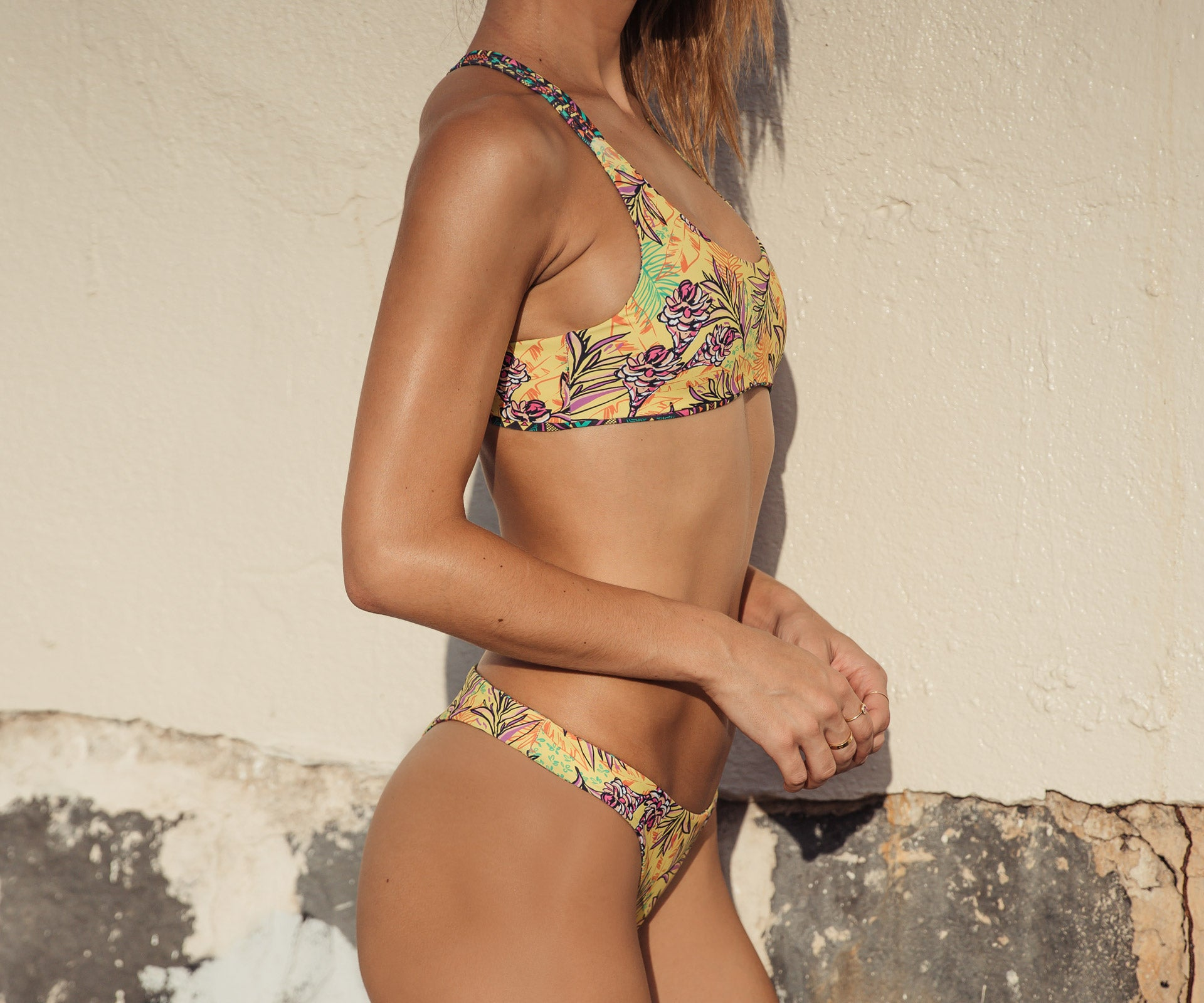 Kahili Bottom - Tribal Geo/Tropical Ginger