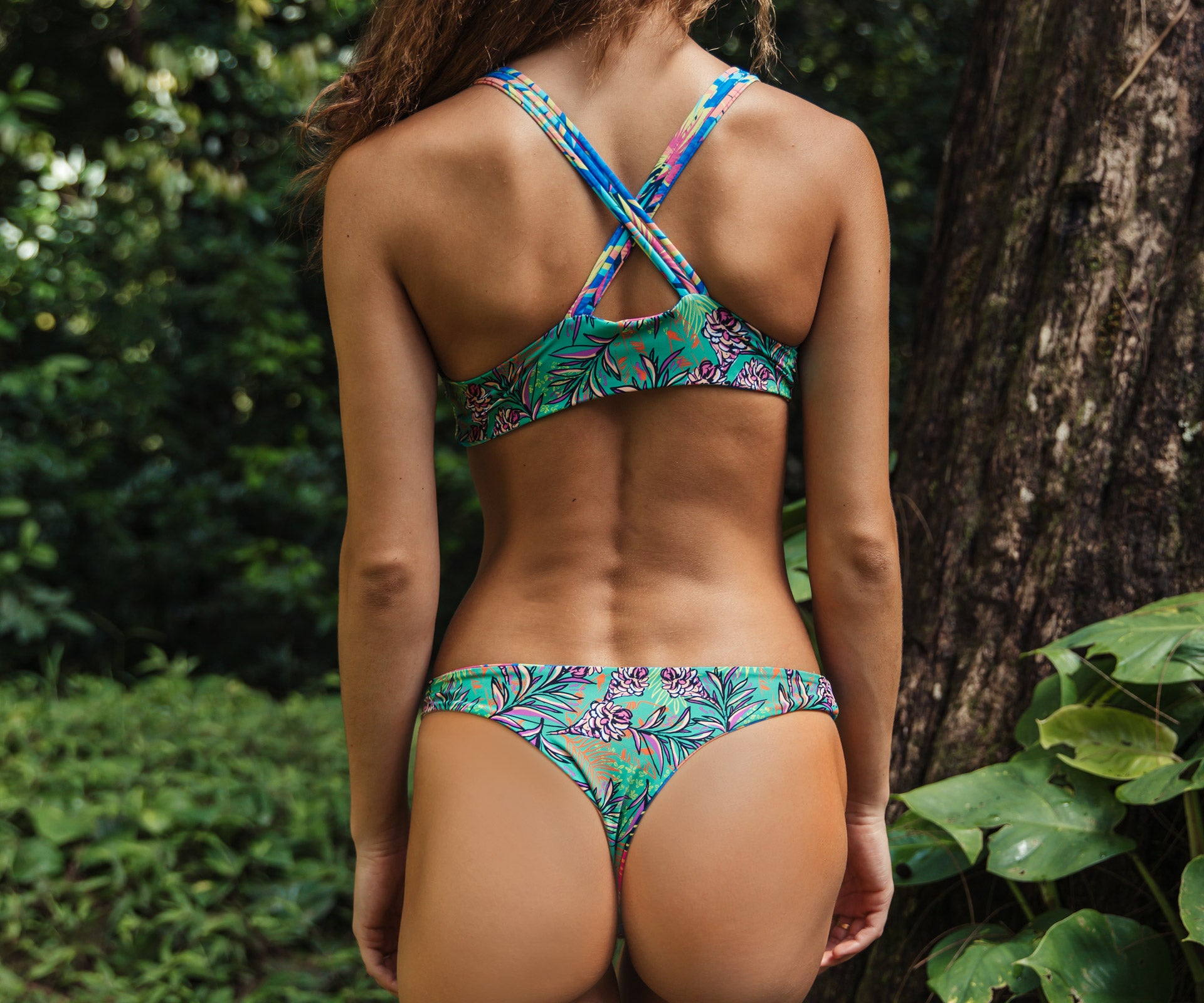 Kahili Bottom - Spring Floral/Tropical Ginger