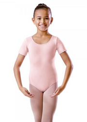 Round Neck Short Sleeve Leotard