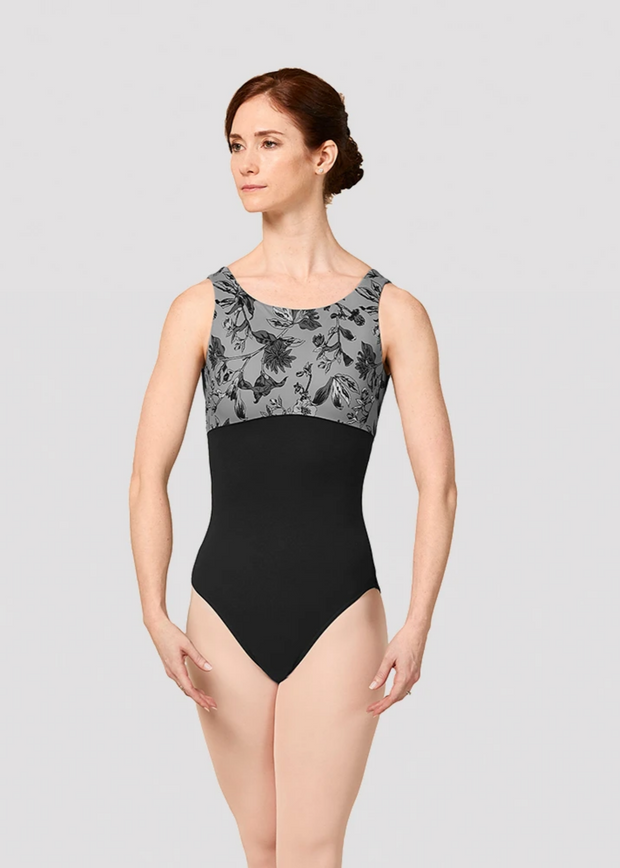 Mirella Jasmine Print Scoop Back Leotard