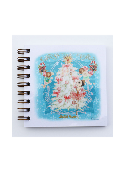 Square Notebook Sugar Plum Fairy and The Christmas Tree