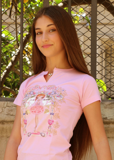 Girl's Ballerina T-shirt