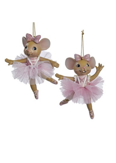 Resin Ballet Mouse Ornament