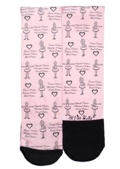 Ballet Positions Socks