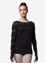 Sheer Stripe Knit Jumper