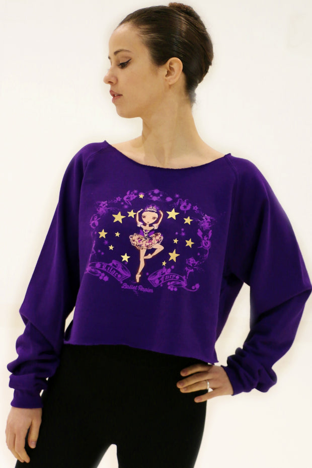 Girl's Lilac Fairy Sweater