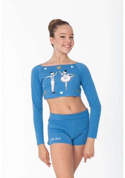 Women's Sleeping Beauty Long Sleeve Crop Top
