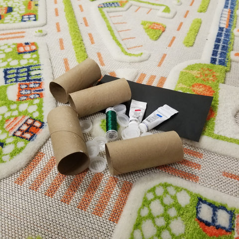DIY arts and crafts toy train materials