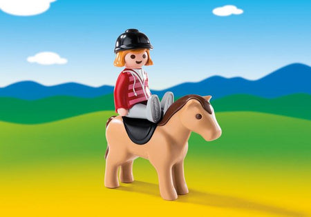 6973 Equestrian with Horse
