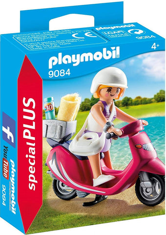 Beachgoer with Scooter Building Set