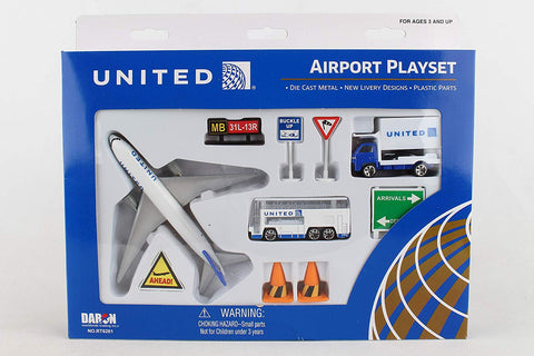 United Airlines Airport Playset