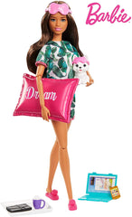 Barbie Relaxation Doll with Puppy and 8 Accessories