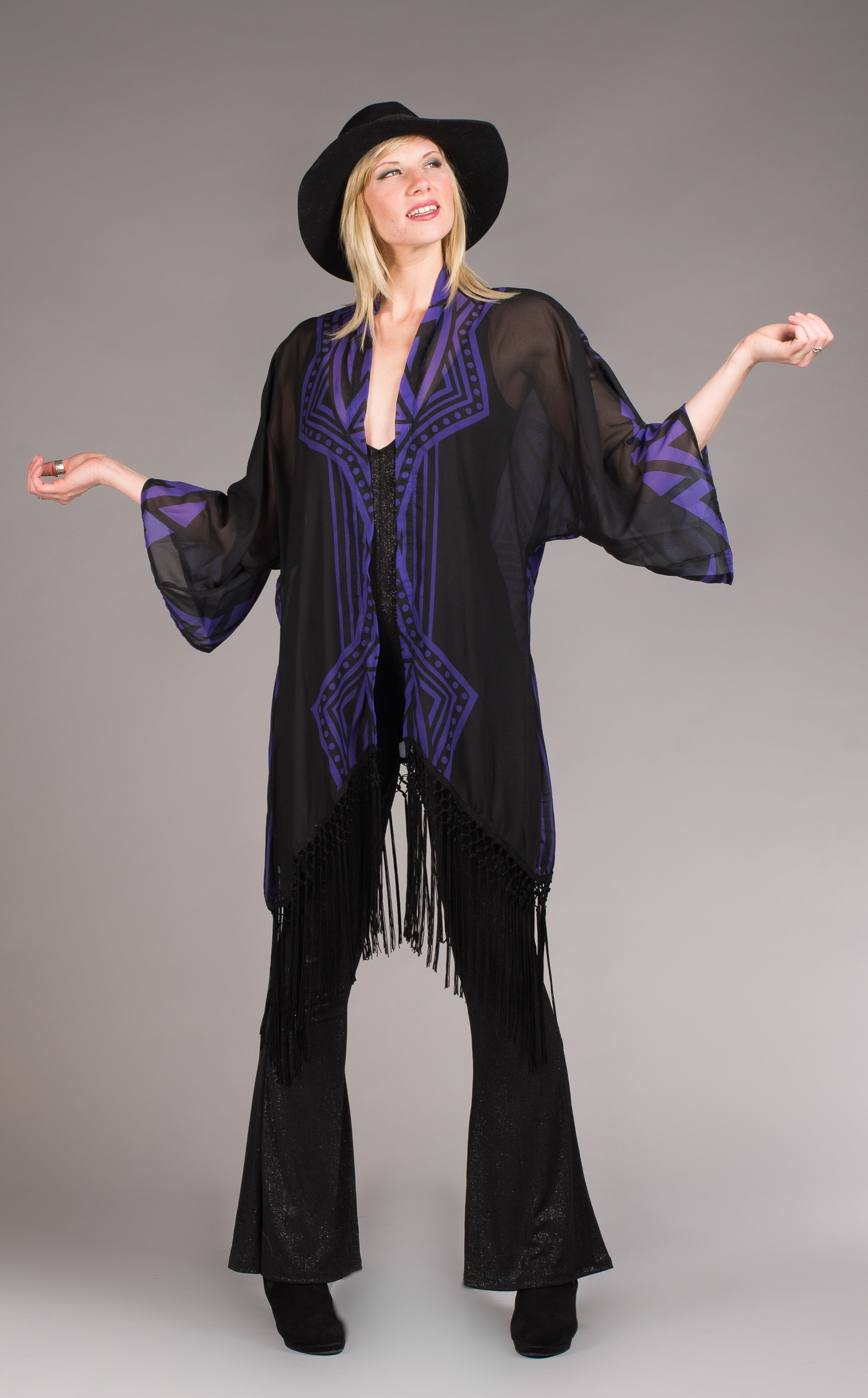 Grateful Dead Kimono - Royal Purple