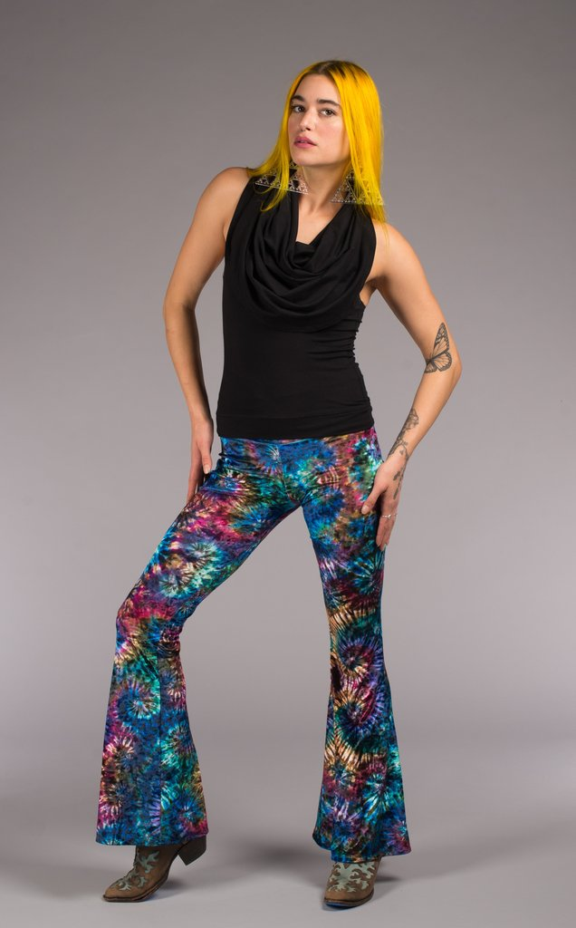 The Slim Bell Pants are the go to every day pant, comfortable & sexy. Bell Bottoms that have a hip hugging waist and are very flattering on the legs.