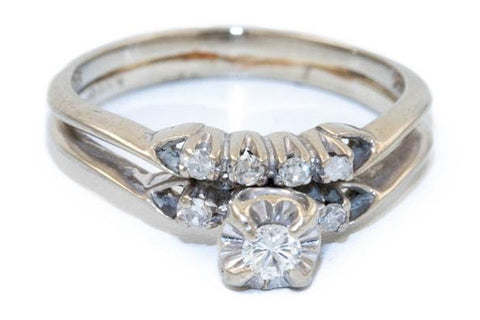 Stacked Gold Diamond Ring