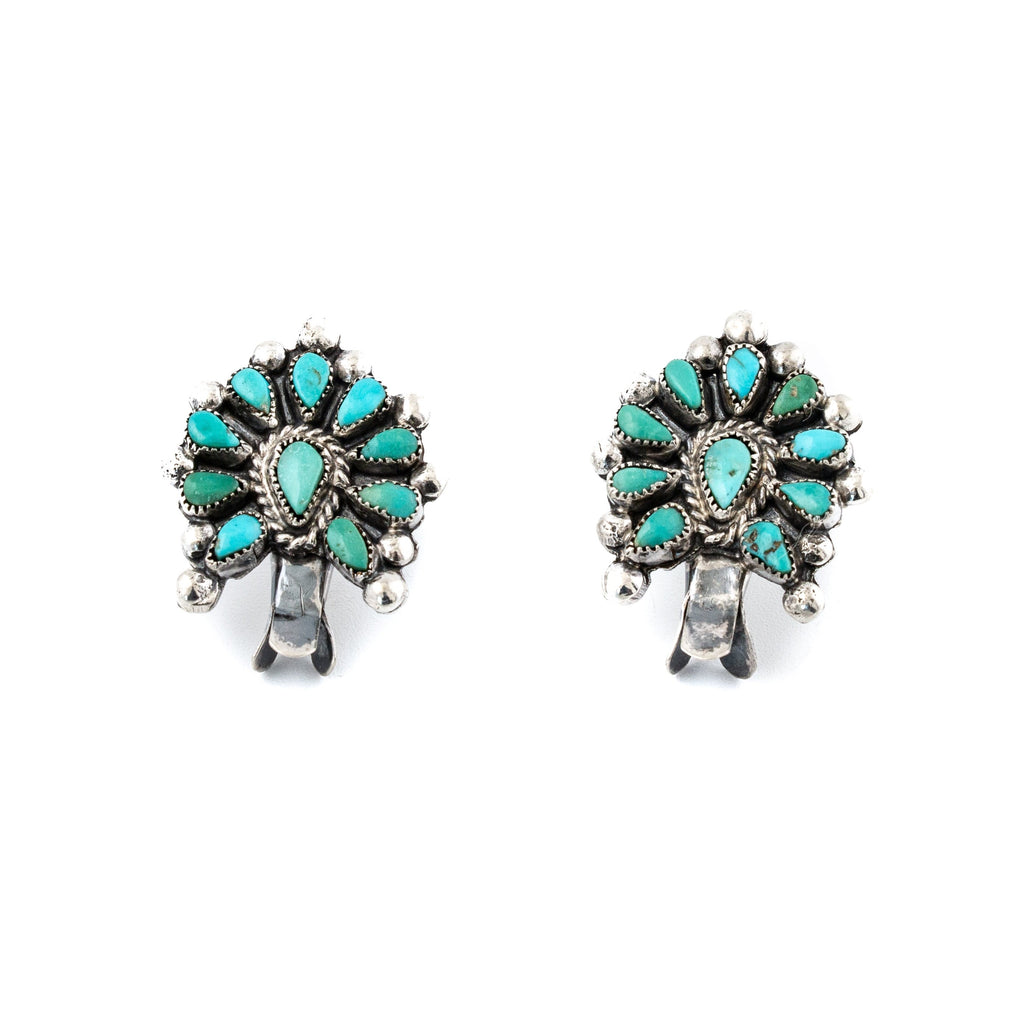 Squashy Zuni Turquoise Earrings