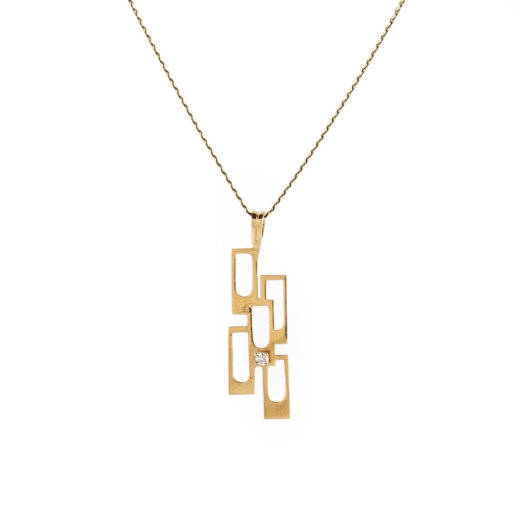 10 KT Gold Modernist Pendant - Kingdom Jewelry