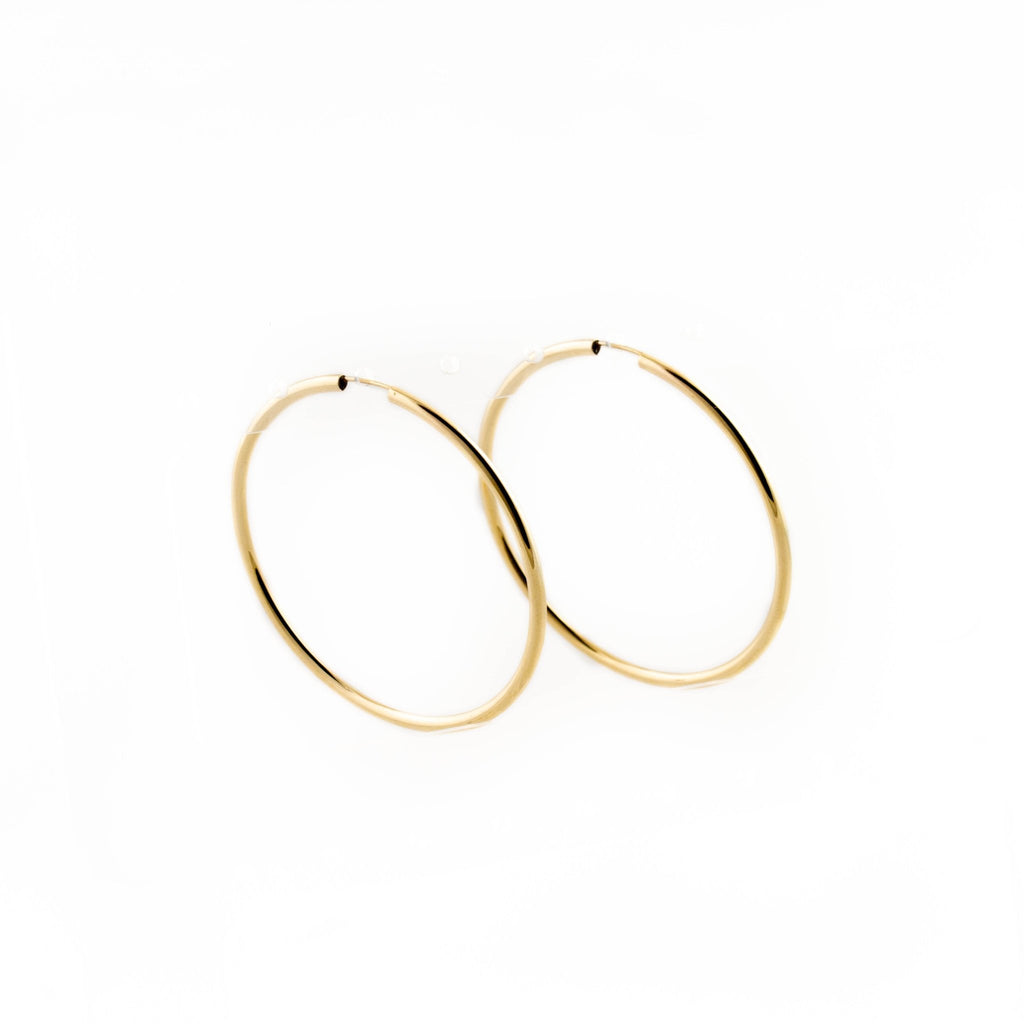 10KT Gold Pipe Hoop - Kingdom Jewelry