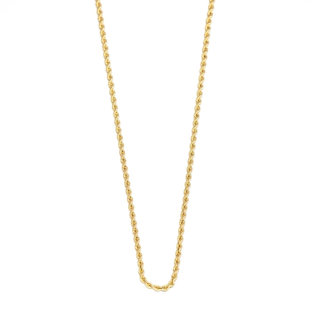 10kt Gold Rope Chain - Kingdom Jewelry