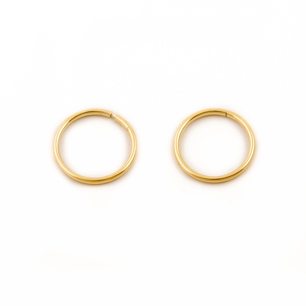 10kt Gold Seamless Hoops - Kingdom Jewelry
